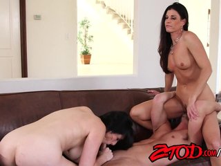 Fabulous cougar threesome fuck party