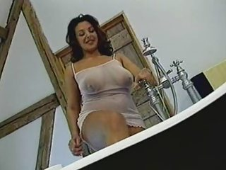 British Take charge MILF gets fucked in the bathroom