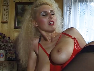 German Milf with big unaffected tits takes it unchanging less her ass