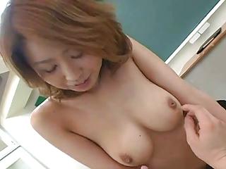 Inviting prex Japanese teacher's hot queasy cunt creampied