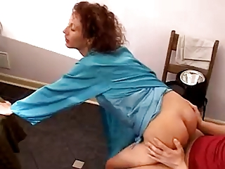 Big Lifeless Cock fucks hot Redhead MILF in cookhouse