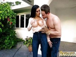 Rich housewife MILF fucks her gardener bc her hubby wouldnt