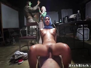 Muslim porn and arab mature couple Sneaking in the Base!