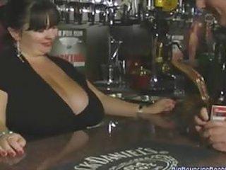sex video BRITISH MATURE MEGA BOOBED BARMAID