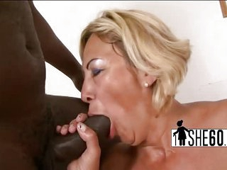 Busty milf banged with black dick
