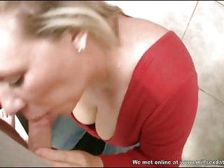 Blonde from Milfsexdating Net blowjob