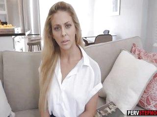 Horny stepson blackmailed and fucked a MILF stepmom