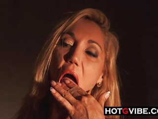 A Spanish Blonde Mature Superbabe Making Herself Cum and Squirt