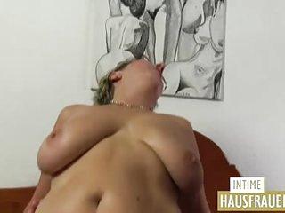 Blond fat german girl
