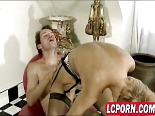 Vintage babes in anal and lesbian sex licking and lapping up that classic mature pussy