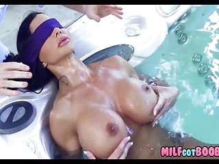 A Busty Mom In The Hot Tub Gets Spied On By A Creep Neighbour