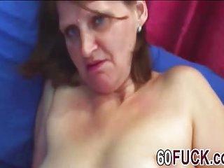 Dirty minded granny got nailed like a cheap slut