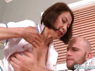 Mature asian nurse banged
