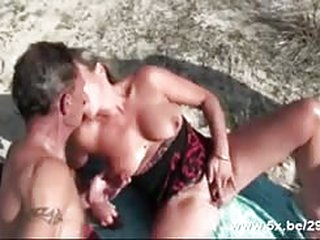free sex tube French mature gangbanged on the beach