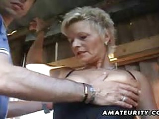 porno tube Mature amateur wife sucks and fucks outdoor with facial cum
