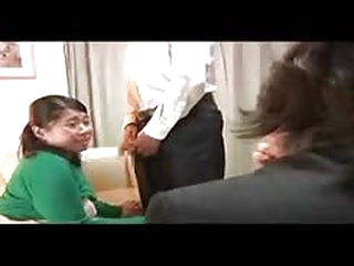Scared asian bitch fucked by older guy