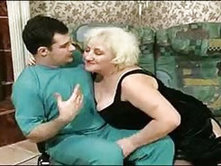 Sweet old granny Louisa gets some cock medication from home visiting doctor