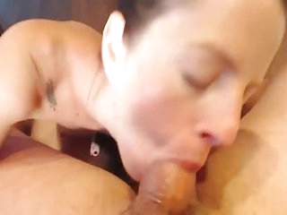 Incrredible milf deepthroats cock and gets fucked in her ass